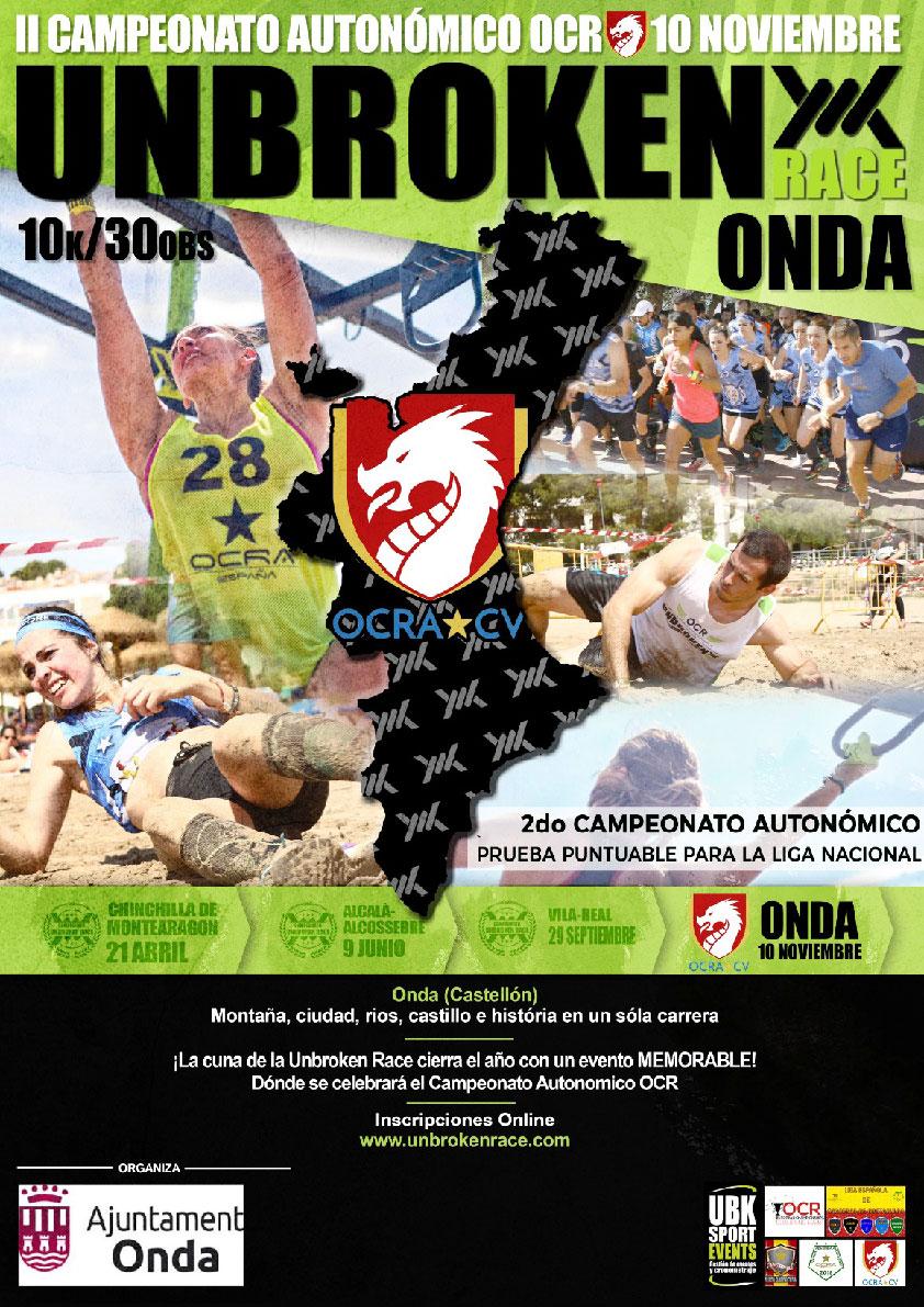 Cartel Campeonato Autonómico 2018 OCRA CV. Asociación de Carreras de Obstáculos de las Comunidad Valenciana