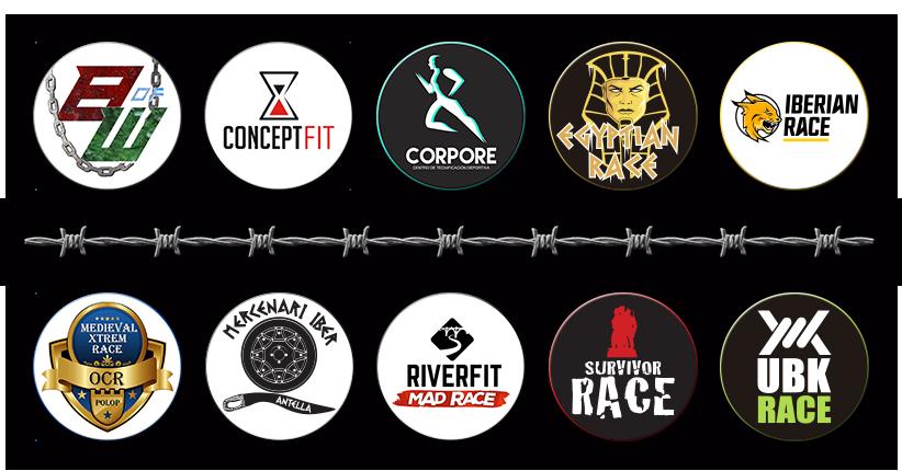 Logotipos Organizadores OCRA CV. Asociación de Carreras de Obstáculos de las Comunidad Valenciana