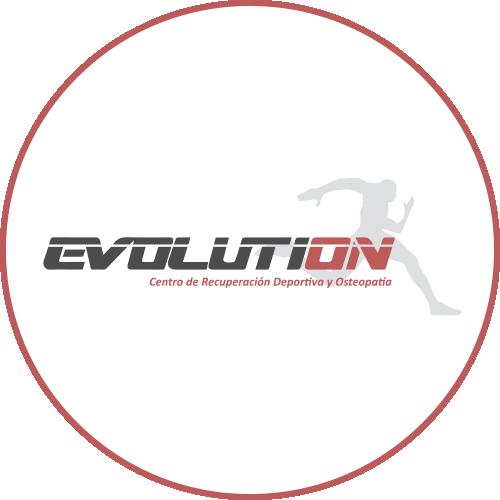 Logotipo Clinica Evolution OCRA CV. Asociación de Carreras de Obstáculos de las Comunidad Valenciana
