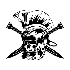 Logotipo GRD Hell's Gladiators OCRA CV. Asociación de Carreras de Obstáculos de las Comunidad Valenciana